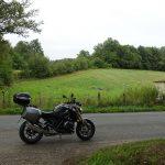 balade moto dans les landes