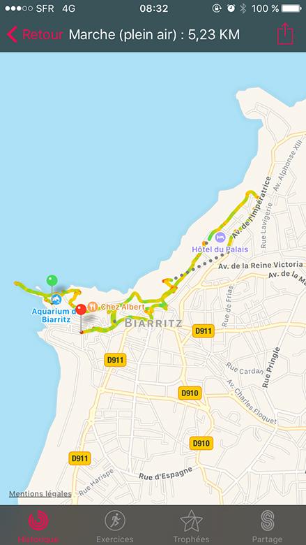 balade à pied sur Biarritz