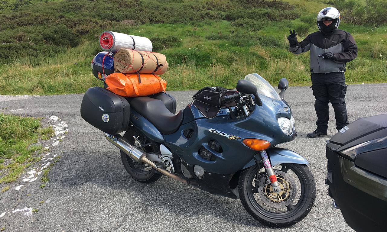 motard portugais faisait un tour d'Espagne à moto