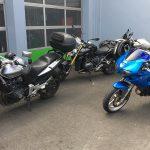 moto de Marion et de Romain
