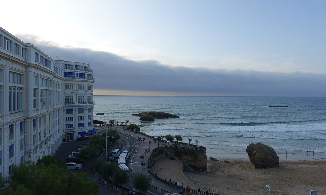 ambiance bord de mer à Biarritz