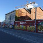 mur de graff derrière Cdiscount à Bordeaux