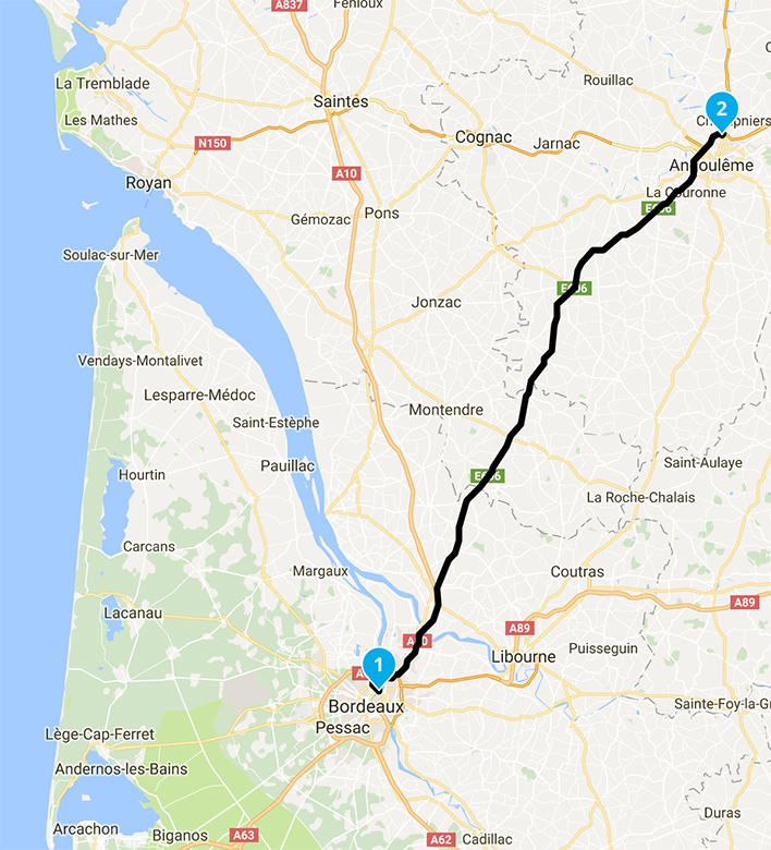 roadbook moto Bordeaux