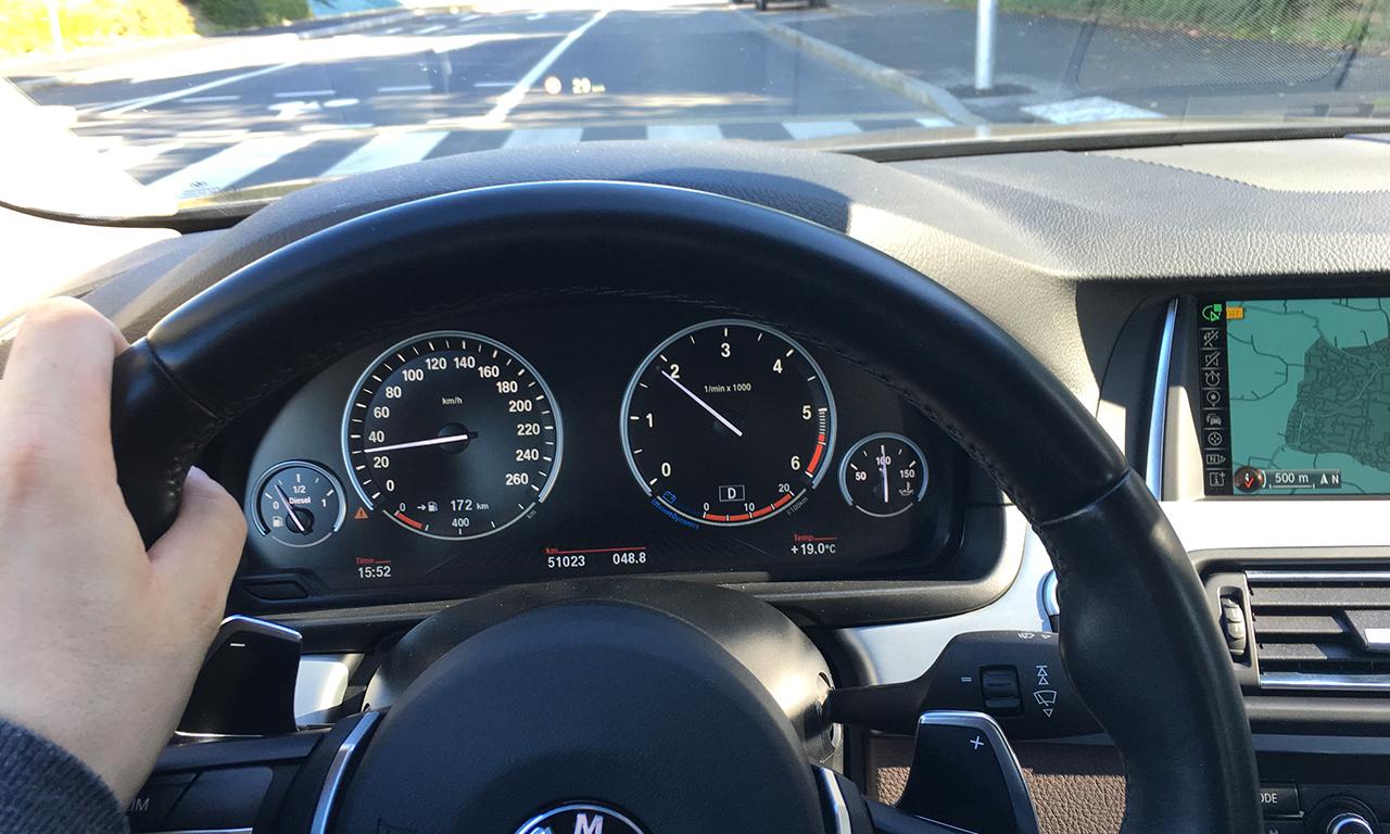 Vie à bord du 530DA BMW