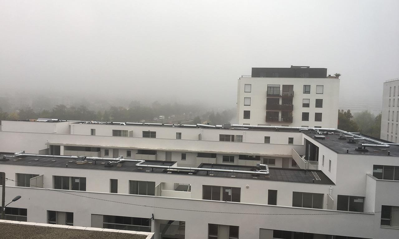 brume le 15 octobre 2017 sur Rennes