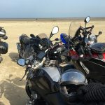 les motos en bord de mer