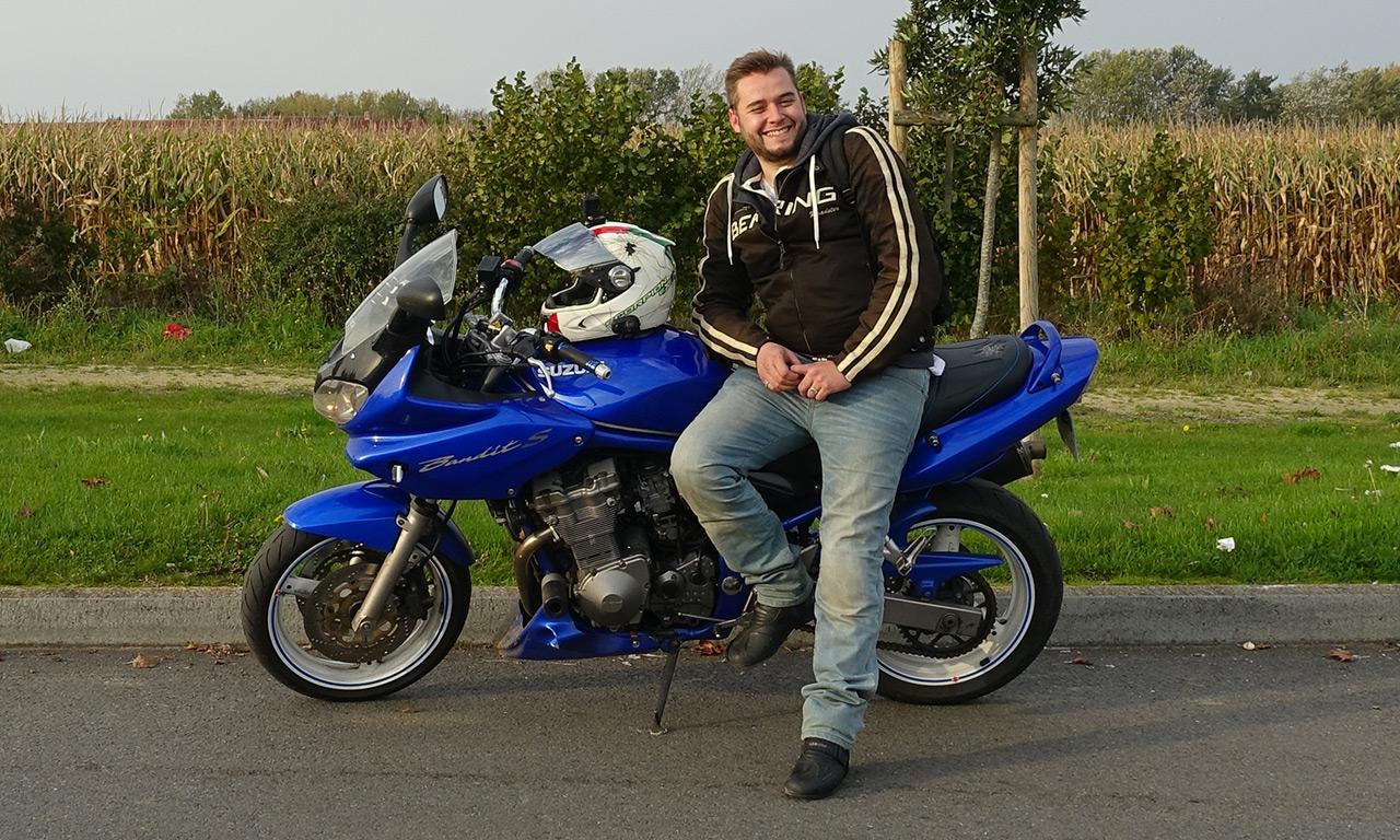 Camille, motard Rennais