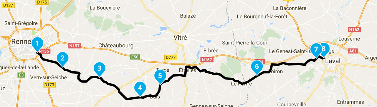 Roadbook motard : balade moto de Rennes vers City Bike à Laval
