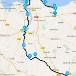 Roadbook et itinéraire balade moto au départ de Rennes de Saint-Malo vers Rennes