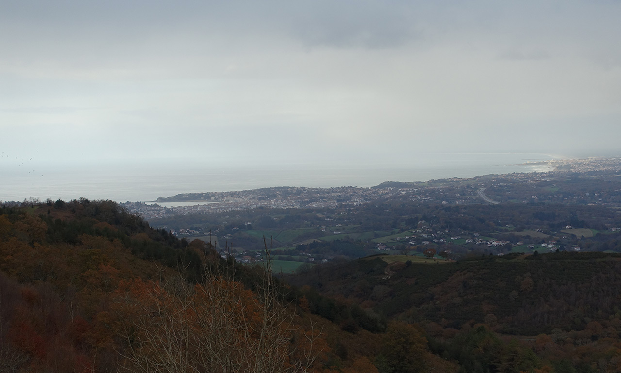 Vue mer depuis le Col d'Ibardin