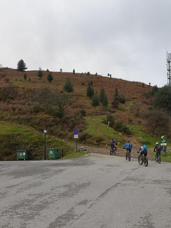 sortie sportive VTT au Col d'Ibardin