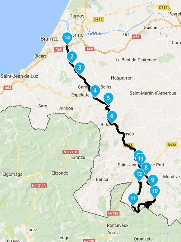 Balade moto Bayonne dans les montagnes