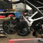 changement de pneu sur le R1200R BMW