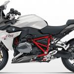 Moto BMW R1200RS blanche et rouge