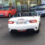 voiture abarth spider blanche