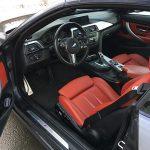 intérieur cuir rouge BMW serie 430 D cabriolet