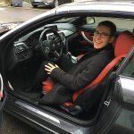 Christophe dans la BMW