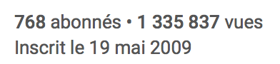 Abonnement Youtube