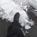 pied dans la neige, 2018