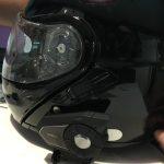 kit 30K sur le casque de moto