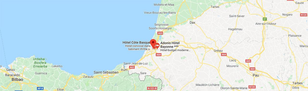 Bayonne (Pays Basque) : ville de départ pour une balade moto