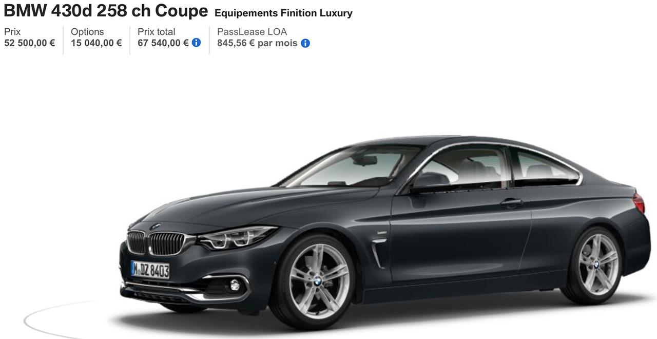BMW 430D Luxury avec options