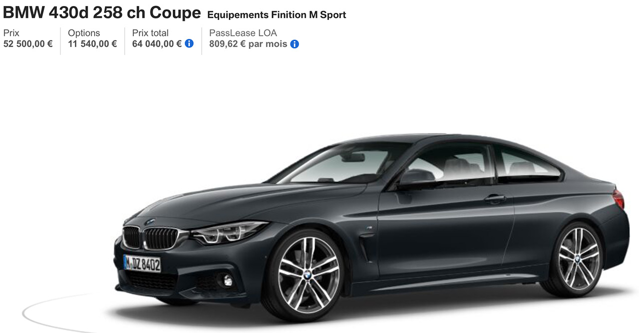 BMW 430D Pack M Sport