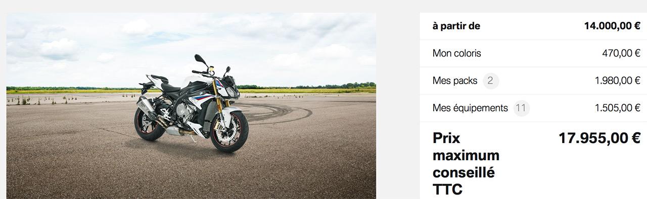moto BMW S1000R 2018 toutes options