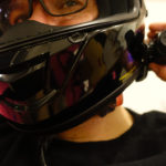 Intercom SENA 10C sur casque de moto