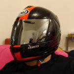 effet miroir pour la visière de casque de moto