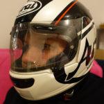 casque de moto visière claire de David Jazt