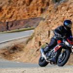 Essai pneu moto Road5 Michelin, David Jazt Aprilia Tuono V4