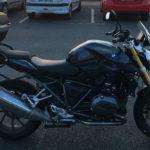 moto de David Jazt à Saint Jean de Luz, Pays Basque