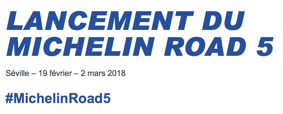 Lancement du Michelin Road 5