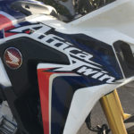 Africa Twin bleu blanche et rouge