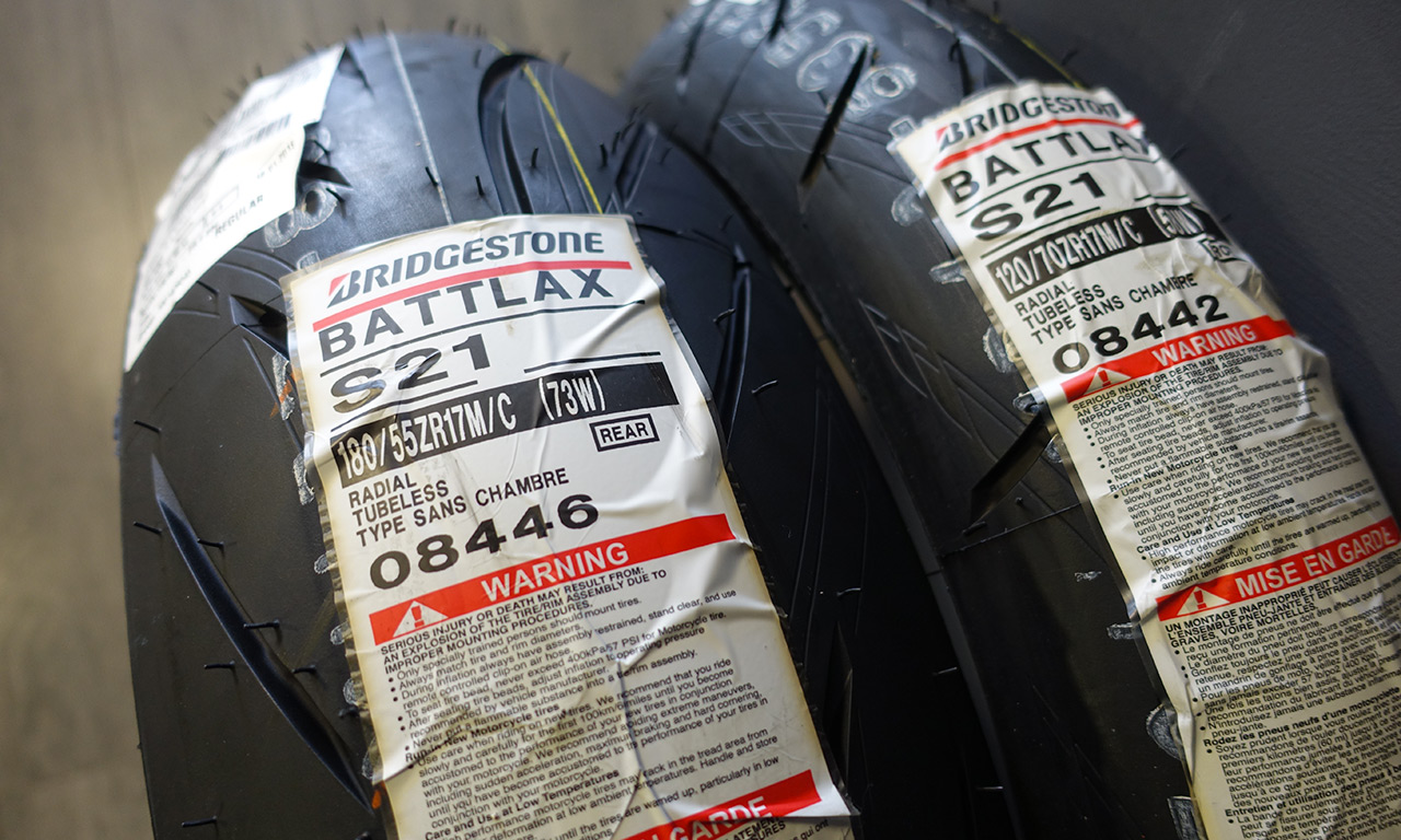 Bridgestone S21 : pneu moto