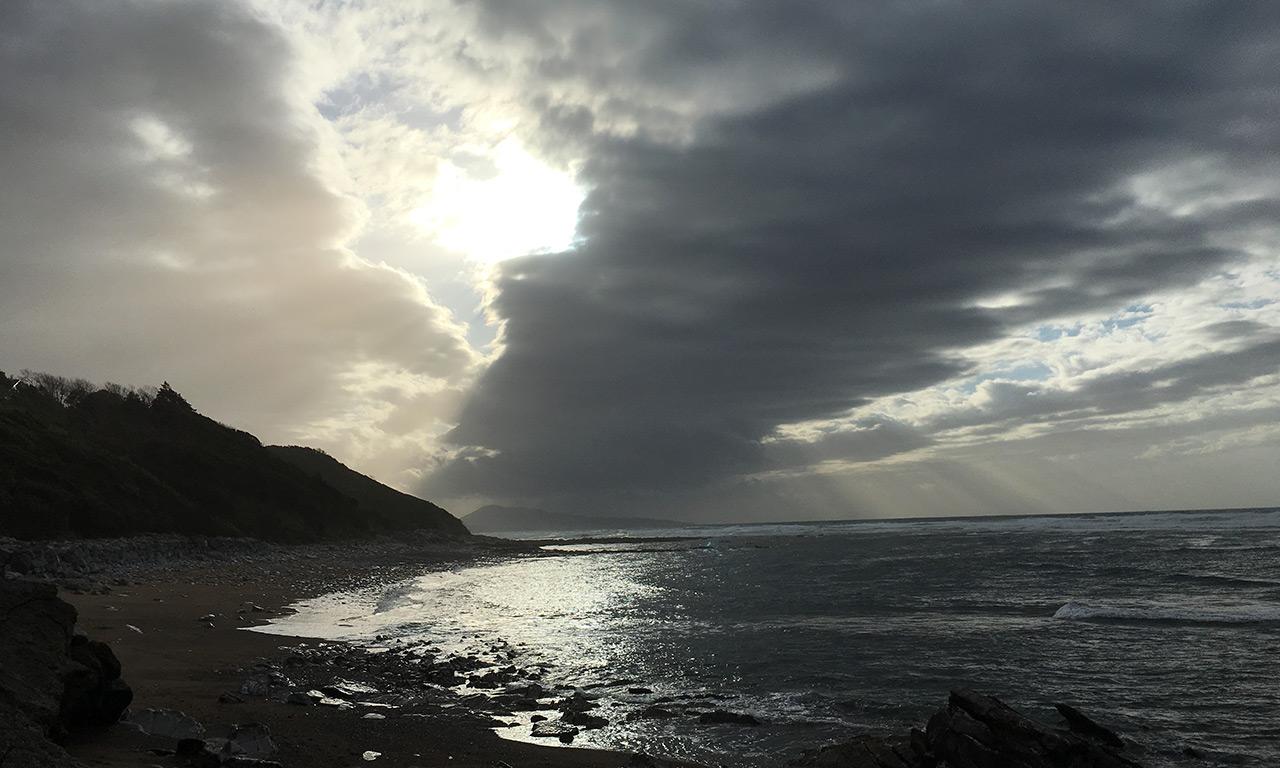vue mer depuis Guethary