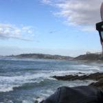 Vue vers l'océan depuis Guethary au Pays Basque
