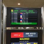 Avion pour Madrid