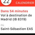 Vol à destination de Madrid depuis Saint-Sebastien