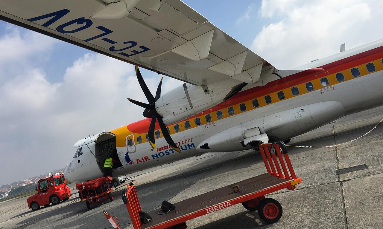 Avion de Saint Sebastien pour Madrid