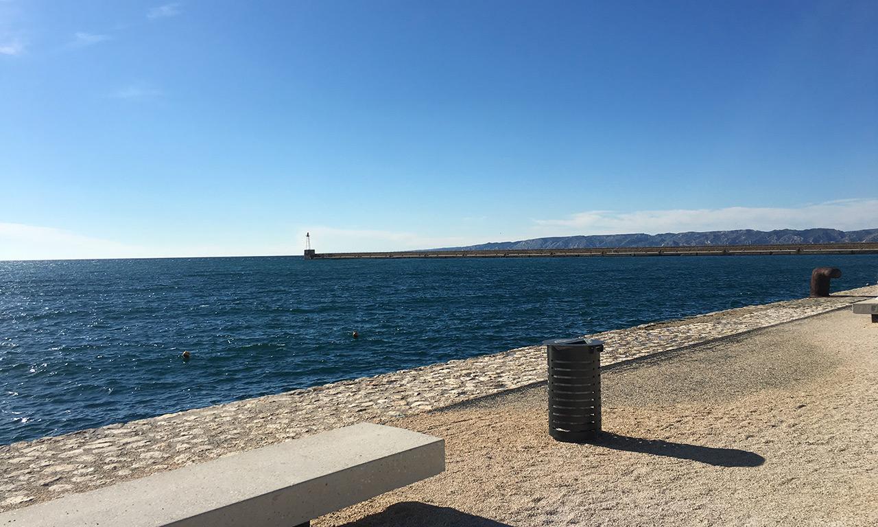 embouchure vers le vieux port de Marseille