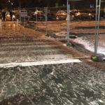 neige et grele à Biarritz