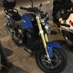 BMW R1200R Bleue