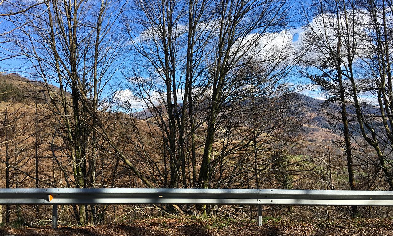 Montagnes Basque à moto