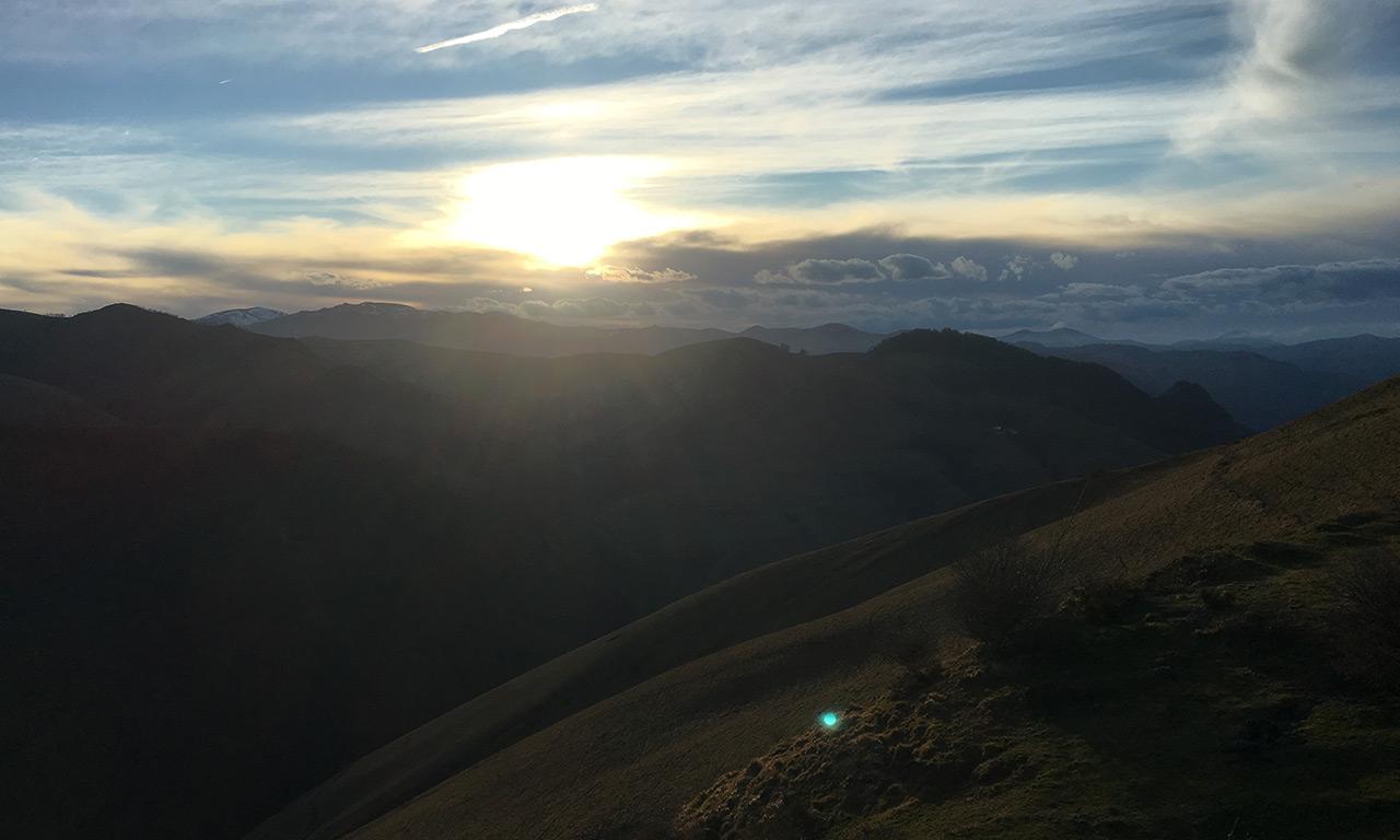 vue sur les montagnes Basques