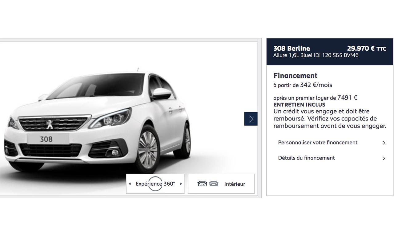 Acheter Peugeot 308