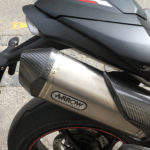 Echappement Arrow sur le Speed Triple