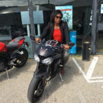 Tiane sur le Speed Triple RS