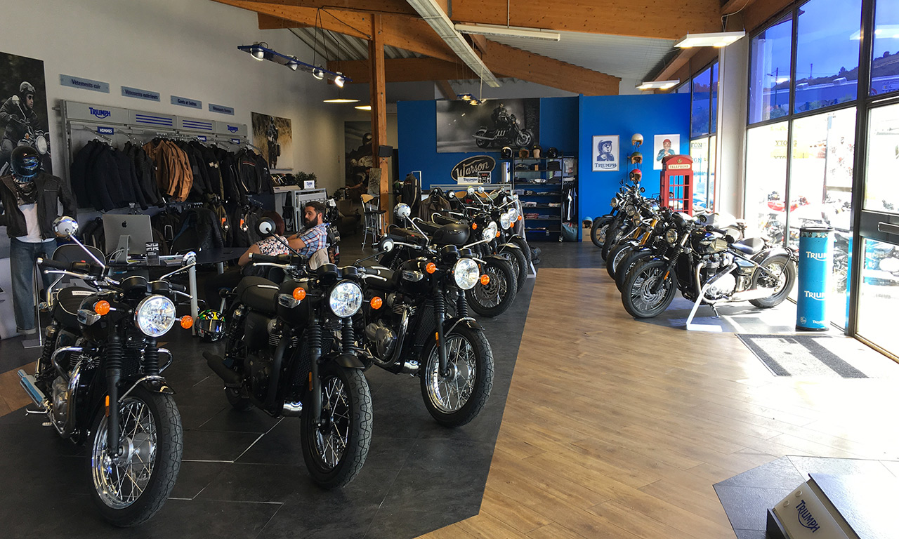 Concession moto Triumph Provence
